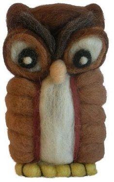 Simpático buho hecho con lana!  difusión!  http://idea.me/proyecto/3368/numuarteydiseno