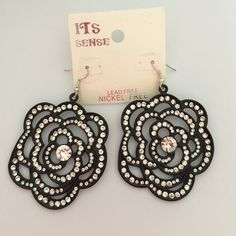 Earrings Flower rhinestone earrings! Nickel Free Jewelry Earrings