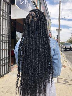 Faux Locs Hairstyles, Twist Braid Hairstyles, Black Girl Braids, Braided Hairstyles For Black Women, African Braids Hairstyles, Baddie Hairstyles, Braids For Black Hair, Pretty Hairstyles, Girl Hairstyles