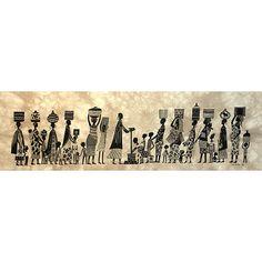Global Crafts Water' Heidi Lange Screen Print, Handmade in Kenya