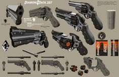 "agentzingari: "" Guns of the Near Future: Weapons of Deus Ex: Human Revolution "" Sci Fi Weapons, Weapon Concept Art, Weapons Guns, Fantasy Weapons, Anime Weapons, Science Fiction, Deus Ex Human Revolution, Armes Futures, Future Weapons"