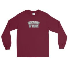 Christian Men/Women Long Sleeve T-Shirt Sanctified by truth block
