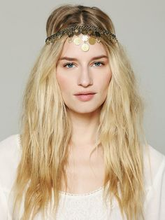 Embellished Coin Headpiece at Free People Clothing Boutique