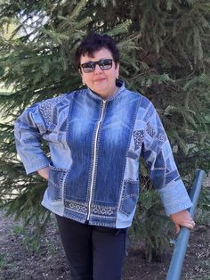 Refashion, Coats For Women, Bomber Jacket, Album, Denim, Crochet, Jeans, Jackets, Women's