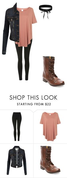 """""""Choker simplicity"""" by izzyb826 on Polyvore featuring Topshop, LE3NO, Steve Madden and Boohoo"""