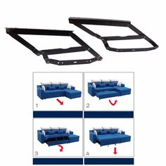 With this mechanism hardware, you can hide the sofa bed frame under your sofa,if you wanna turn your sofa into a bed,simply pull out the bed frame and lift the frame up till the level is the same as sofa, and then press the bed frame down, now your sofa is a bed. | eBay!