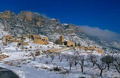 Hivern de neu a La Morera de Montsant. Priorat (Catalunya - Catalonia)