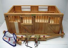 Breyer Horse Barns for Sale | Vintage Wood Breyer Horse Barn Stable Stalls Fence Saddles