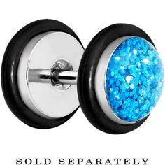 Aqua Super Glitter Luxe Cheater Plug   Body Candy Body Jewelry