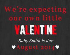 Chalkboard pregnancy announcement by Littlegiftsfrmheaven on Etsy, $14.00