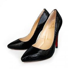 Cheap Christian Louboutin Pigalle Black Python Black Sale : Christian Louboutin$201.35