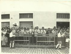 Desfile escolar da década de 70 - Morretes. Banda dos Coroas