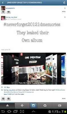 #Neverforget20121dmemories...I actually didn't know they leaked it themselves