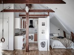 attic studio apartment Plus