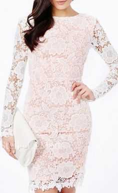 This faultless lace dress is a stunning statement piece, perfect for all parties this season. The dainty lace detail and sultry open back midi design give this a sophisticated meets sexy vibe. Concealed zip fastening at lower back, style it with heels, a clutch and gold jewelry for a look that's fit for a princess.
