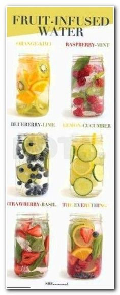 in your daily water quota with this Fruit-Infused Water - 6 ways! From berri Get in your daily water quota with this Fruit-Infused Water - 6 ways! From berri. -Get in your daily water quota with this Fruit-Infused Water - 6 ways! From berri. Smoothie Drinks, Detox Drinks, Healthy Drinks, Detox Juices, Healthy Water, Healthy Snacks, Healthy Detox, Smoothie Cleanse, Fruit Smoothies