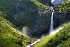 Waterfall in #Oldedalen, Briksdalen   by Bergen64, some people think that places - like the North - that are rich in water will become the target for corporate take-overs or even water wars.