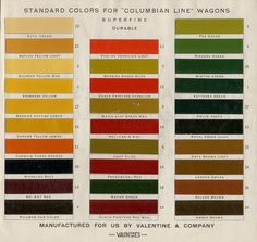 early 1900s wagon palette