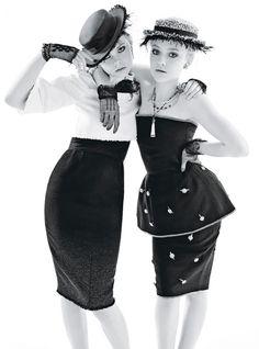 Dakota y Elle Fanning for W Magazine December 2011