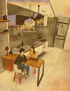"""Looking at each other By Korean artist """"Puuung"""""""