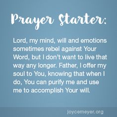 Living with God's Thoughts, Will and Emotions