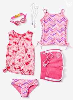 HUES ready for a Summer of Fun?! Perfect pink pieces for her longer days in the sun.