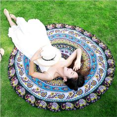 Cheap Honana Round Shape Bohemia Style Beach Towel Multifunction Beach Mat Tippet is on sale at discount prices now, buy Honana Round Shape Bohemia Style Beach Towel Multifunction Beach Mat Tippet and be satisfied. Tapestry Beach, Tapestry Wall Hanging, Beach Towel, Beach Mat, Cheap Blankets, Bohemia Style, Indian Mandala, Beach Yoga, Beach Blanket