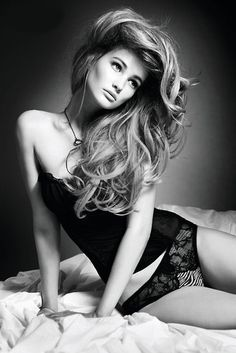 Idea: Classy & more modest boudoir shoot with chunky off-shoulder sweater and Victoria's Secret hair for husband. I hate those skanky photo shoot pins!