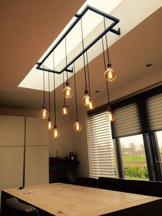All Details You Need to Know About Home Decoration - Modern Lampe Industrial, Industrial House, Industrial Lighting, Vintage Lighting, Home Lighting, Modern Lighting, Lighting Design, Kitchen Lamps, Kitchen Lighting Fixtures
