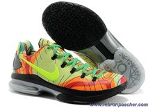 Nike KD V Elite Fluorescente Vert Rouge Sortie Running Shoes 40a71b369dcf