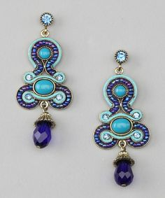 Save Now on this Blue Tikka Earrings by Ms. V Designs on #zulily today! $18.99 (orig 50.00)