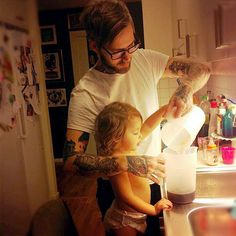 - Tattoo Parents, Parent Tattoos, Dad Tattoos, Tattoo Dad, Tattoo Life, Daddys Little Girls, Daddys Girl, Family Goals, Family Love