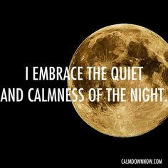 I embrace the quiet and #calmness of the night. Inspiring #quotes and #affirmations by Calm Down Now, an empowering mobile app for overcoming anxiety. For iOS: http://cal.ms/1mtzooS For Android: http://cal.ms/NaXUeo