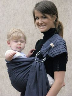 Baby Carrier Ring Sling Baby Sling -Slate Grey -FAST SHIPPING - Instructional DVD Included on Etsy, £30.07