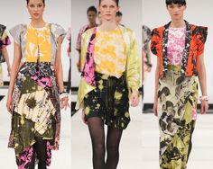 London Graduate Fashion Week   Print & Pattern Highlights A/W 2012/13   catwalks