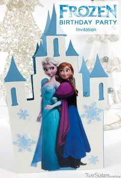 Disney Frozen Invitations - a DIY Frozen Birthday Party Invitation made with a Cricut. And for more great Frozen Party Ideas follow us at http://www.pinterest.com/2SistersCraft/