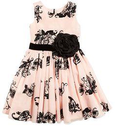 Zoe Floral-Print Party Dress, Blush, Sizes 2-6X Price:.$225.00 USD