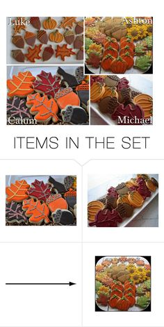 """""""Autumn/Fall Cookies!"""" by x5sosxpreferencesx ❤ liked on Polyvore featuring art"""
