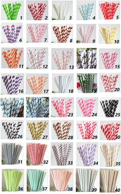 100 Colored Striped Star Dots Chevron Paper by PartySupplier4U, $12.95