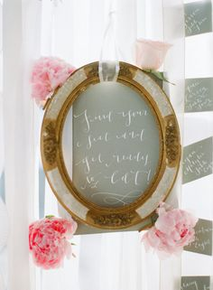 """Find your seat and get ready to eat"" frame {wedding reception ideas - DIY}"