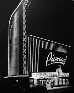 Just after the 1948 grand opening of the Picwood Theater, 10872 Pico Boulevard. It was demolished in 1985 to make way for the Westside Pavilion expension on the southwest corner of Pico and Westwood.