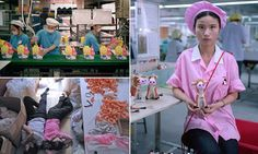 The REAL Toy Story: Chinese factory workers forced to sleep among piles of doll parts as they churn out toys for Christmas Michael Wolf, Factory Worker, Workers Rights, Doll Parts, Industrial Revolution, Christmas Toys, Working Woman, Human Rights, Toy Story