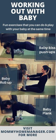 Exercises that combine workout time with playtime