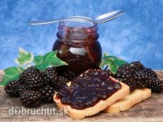 Černicový džem Jelly Cupboard, Jam And Jelly, Fruits And Vegetables, Blackberry, Waffles, Food And Drink, Homemade, Canning, Breakfast
