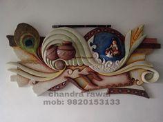 mural of krishna Clay Wall Art, Mural Wall Art, Mural Painting, Clay Art, Diy Painting, Paintings, Pottery Painting, Ceramic Painting, Ceramic Art