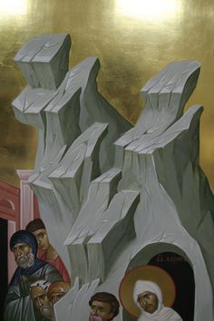 Religious Icons, Master Chief, Opera, Rocks, Drawings, Painting, Fictional Characters, Byzantine Icons, Mountain