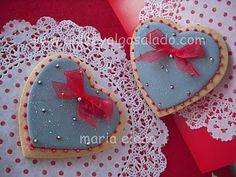Galletas decoradas...con corazon!!!