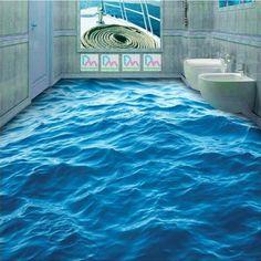 Pas cher sol 3d papier peint photo personnalis pvc papier for Papier peint salle de bain pas cher