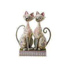 Jim Shore Disney Traditions - Si & Am Cat Figurine - Scheming Suitors