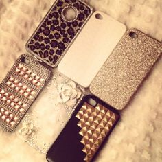 bronze phone cases ... so cute !!! Profeshh and totes vint.